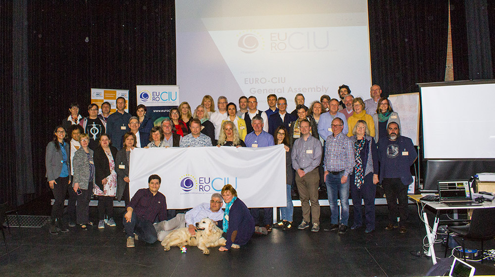 Participants in the EUROCIU General Assembly. Barcelona 2018 (Spain)